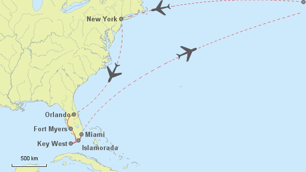 New York + Florida Routenvorschlag