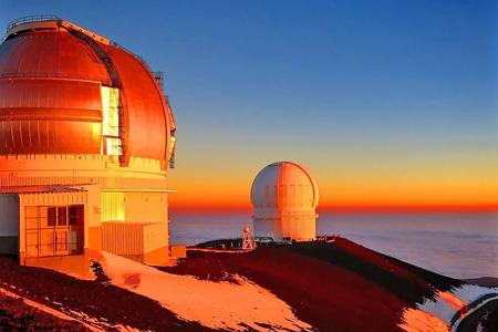 Sonnenaufgang auf dem Mauna Kea Vulkan