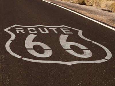Route 66 Memalung in Arizona