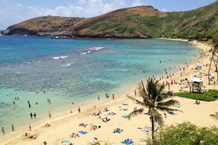 Badepause auf einer Rundreise in Hawaii