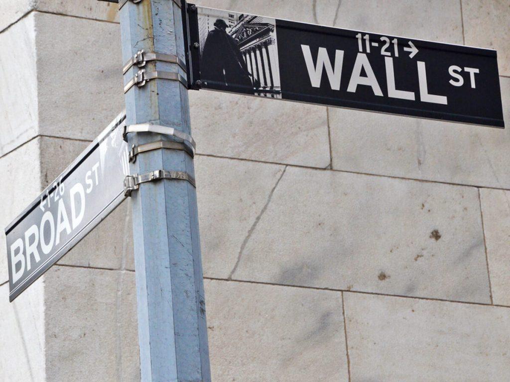 Wall Street Straßeschild