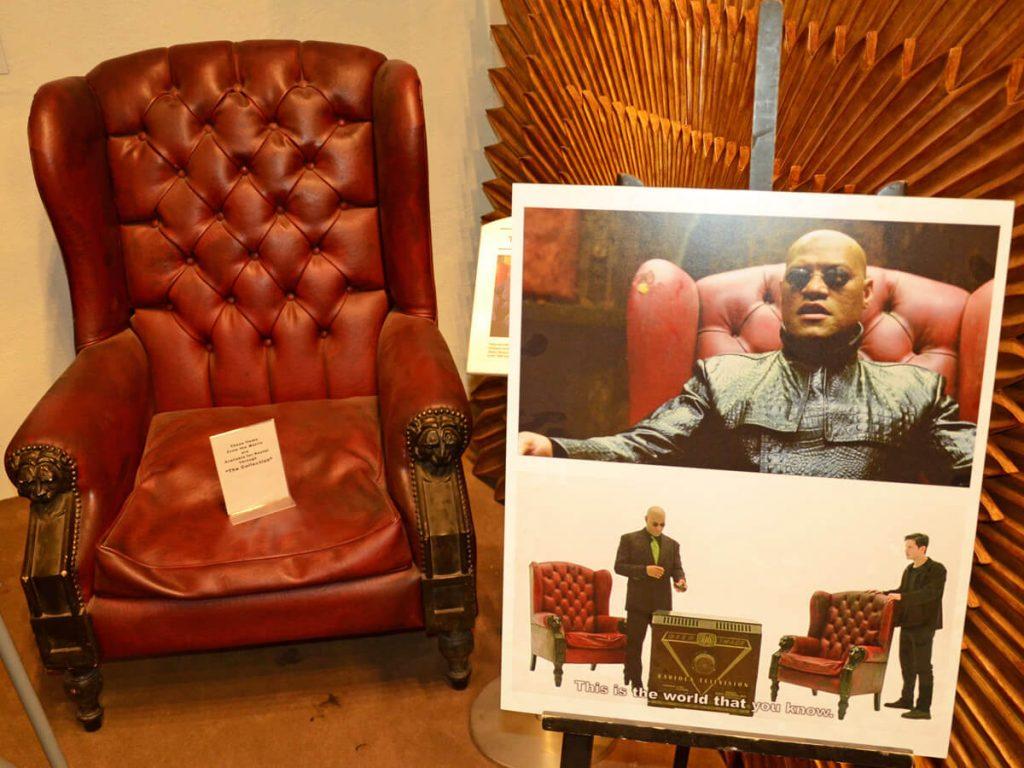 Original Sessel auf dem Film Matrix