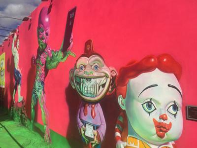 Wynwood Viertel mit Kunst an den Wänden